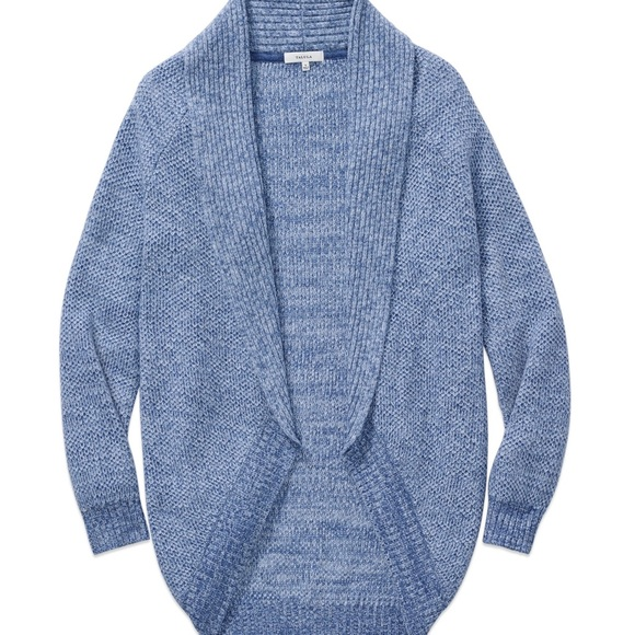 ARITZIA Haddon Open Front Sweater Cardigan Blue L
